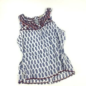 Lucky Brand Women's Muxed Paisley Tank Size Large